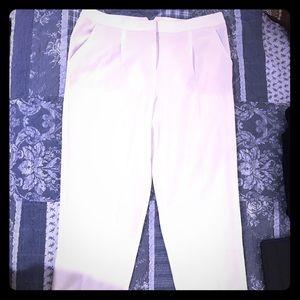 BCBG MaxAzria. James style off white pant Cropped